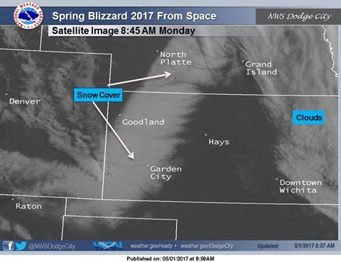 Snow covered much of western Kansas over the weekend.