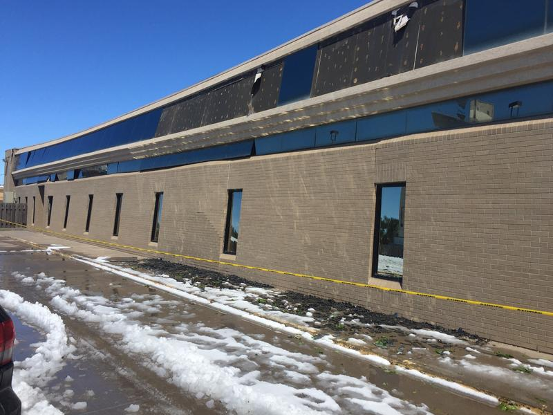 The women's clinic at 115 N. Main St. in Garden City sustained damage by heavy snowfall that blanketed the area over the weekend.