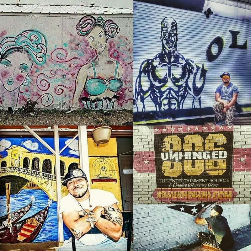 Morin has done a number of murals in Amarillo.