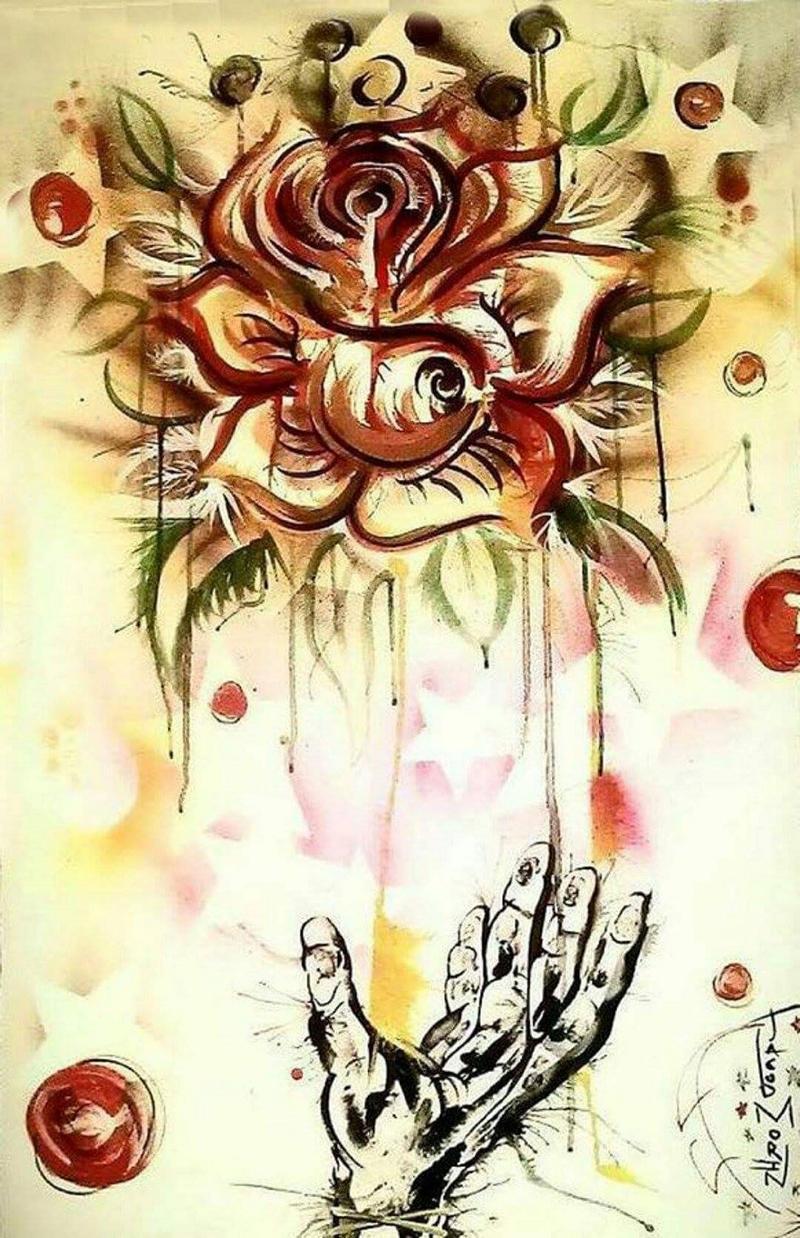 A piece Morin calls the Hope Rose.