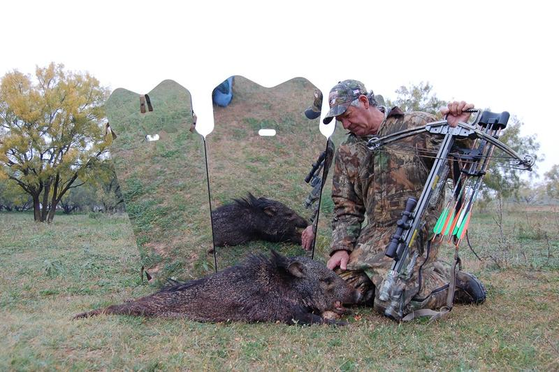 The late veteran outdoor writer and one of Luke's best friends, Bob Hood with a javelina taken a few years ago at Ranger Creek Ranch in Knox County in northern Texas.