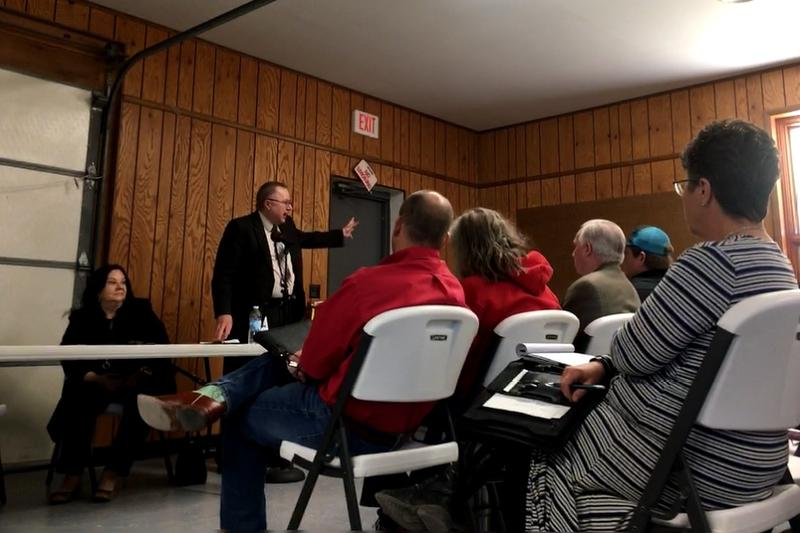 Hundreds of Dighton residents attended a town hall meeting in Dighton, KS Tuesday night to voice their opposition to the State of Kansas' plans to convert a former assisted living facility into a halfway house for sexual predators.