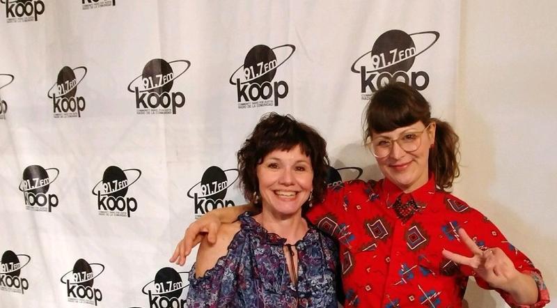 Miss Pearl & me at KOOP!