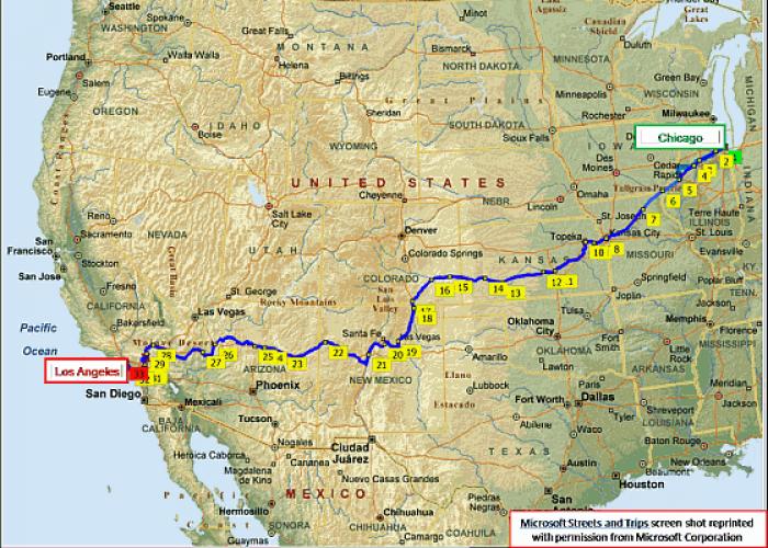 Houseofauracom Southwest Chief Route