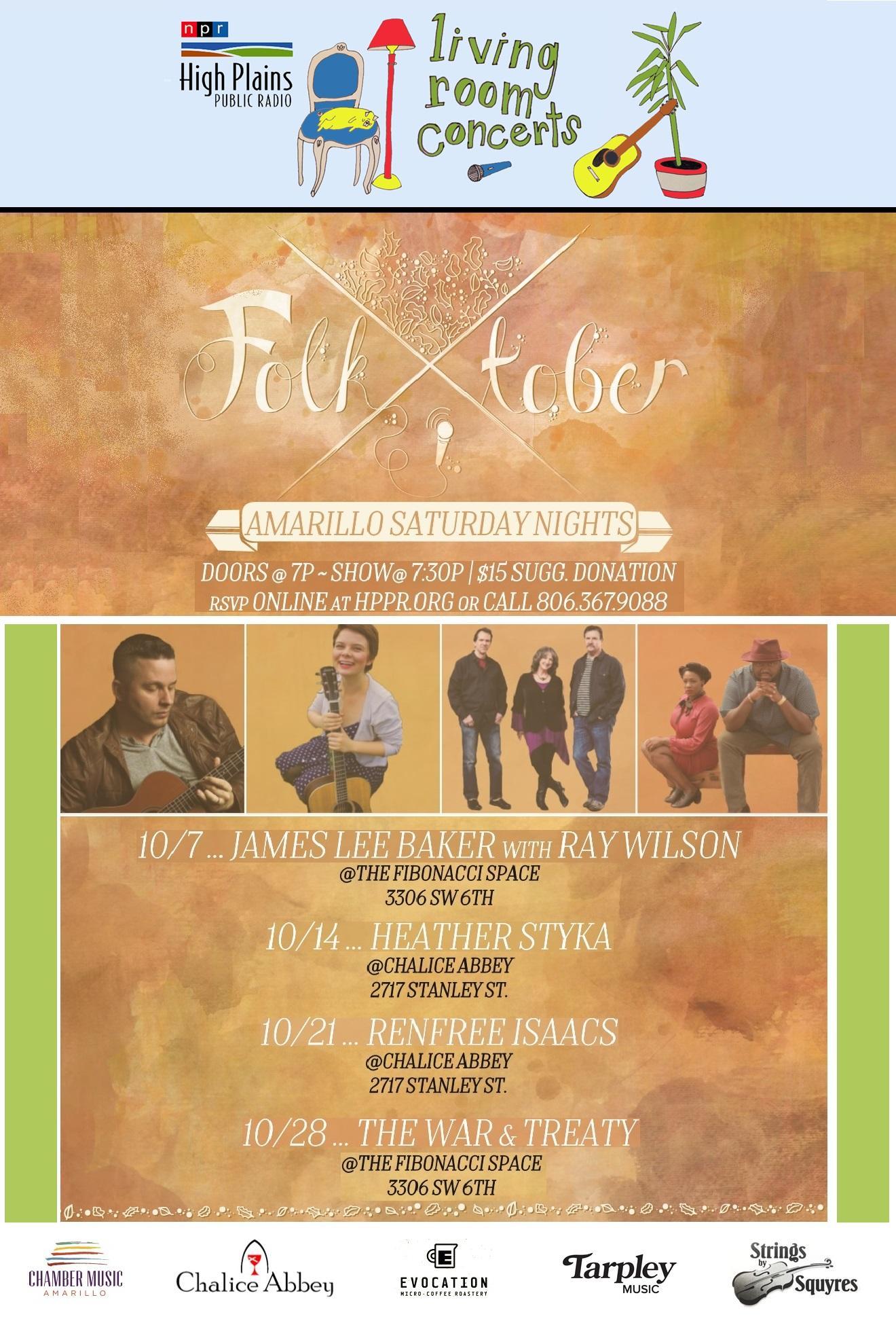 living room concerts. Folk Tober Saturday Nights  Living Room Concerts in Amarillo HPPR