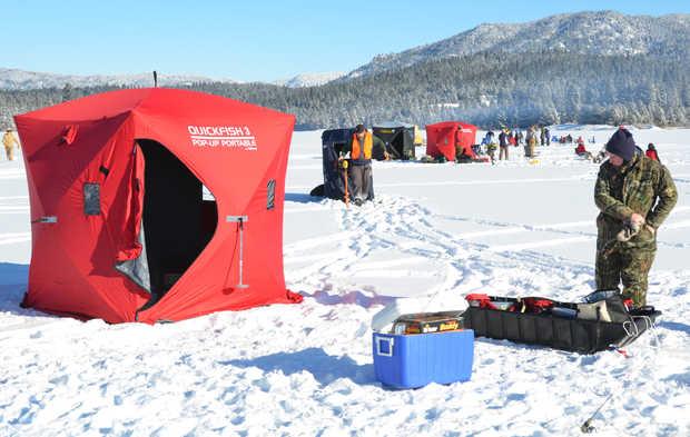 Ice fishing tournament brings good fun to idaho 39 s magic for Ice fishing idaho