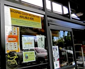 Whooping cough vaccinations are available at many supermarket and drugstore pharmacies, including this one in Salem.