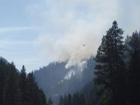 Springs Fire burning in steep terrain