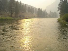 Smoke over the Salmon River on September 20th.