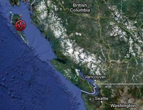 A 7.7 magnitude earthquake struck off the coast of British Columbia on Saturday.