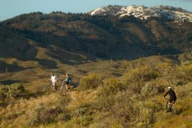 Mountain bikers in the Polecat Gulch Reserve.