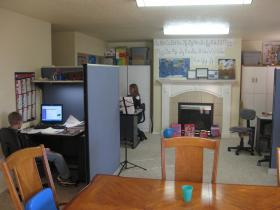 The Bell family in Kuna has converted their living room into a school where the kids attend Idaho Virtual Academy.