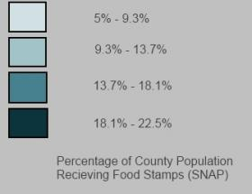 Food Stamp Map Key
