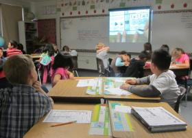 Elementary students in Nampa learn math skills.