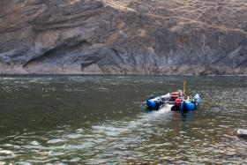 Dredge mining on Idaho's Salmon River.