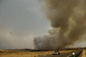 Highway 16, wildfire