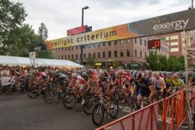 Racers line up to start the 2012 Twilight Criterium.