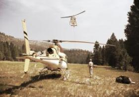 Fire managers for the Ridge Fire burning in the Boise National Forest say helicopters have played a big role in working to contain the blaze.