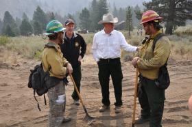 Gov. Otter, Wildfires, Beaver Creek Fire