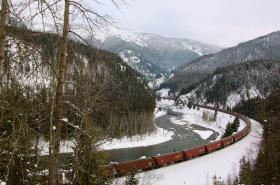 This BNSF train is headed West through West Glacier, Montana and into northern Idaho.