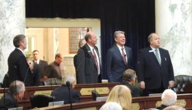 Gov. Otter (center) delivered his 2014 State of the State speech in Boise Jan. 6.