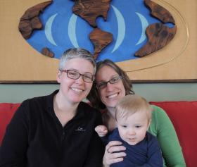 Lori and Sharene Watsen with their son