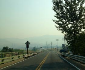 The foothills were barely visible from southeast Boise Thursday morning.