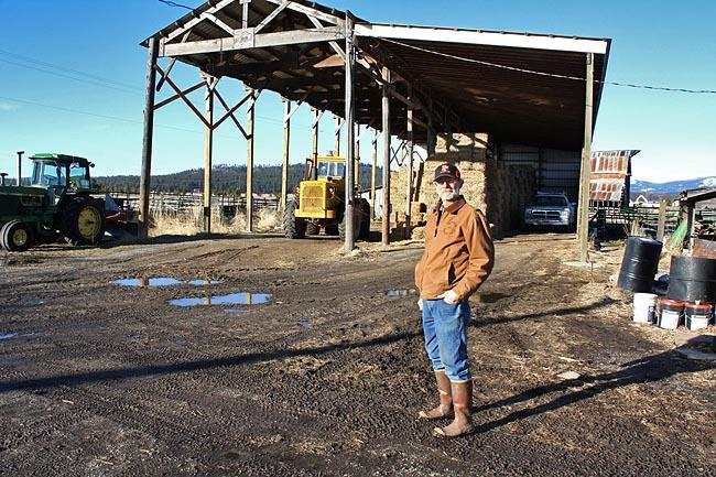 Don Beck is a hay and cattle farmer outside of Post Falls, Idaho