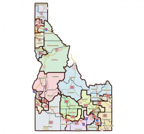 Redrawing Idahos Political Map Gets Complicated Boise State - Idaho political map