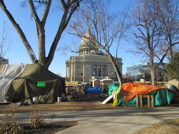 Occupy Boise, camp