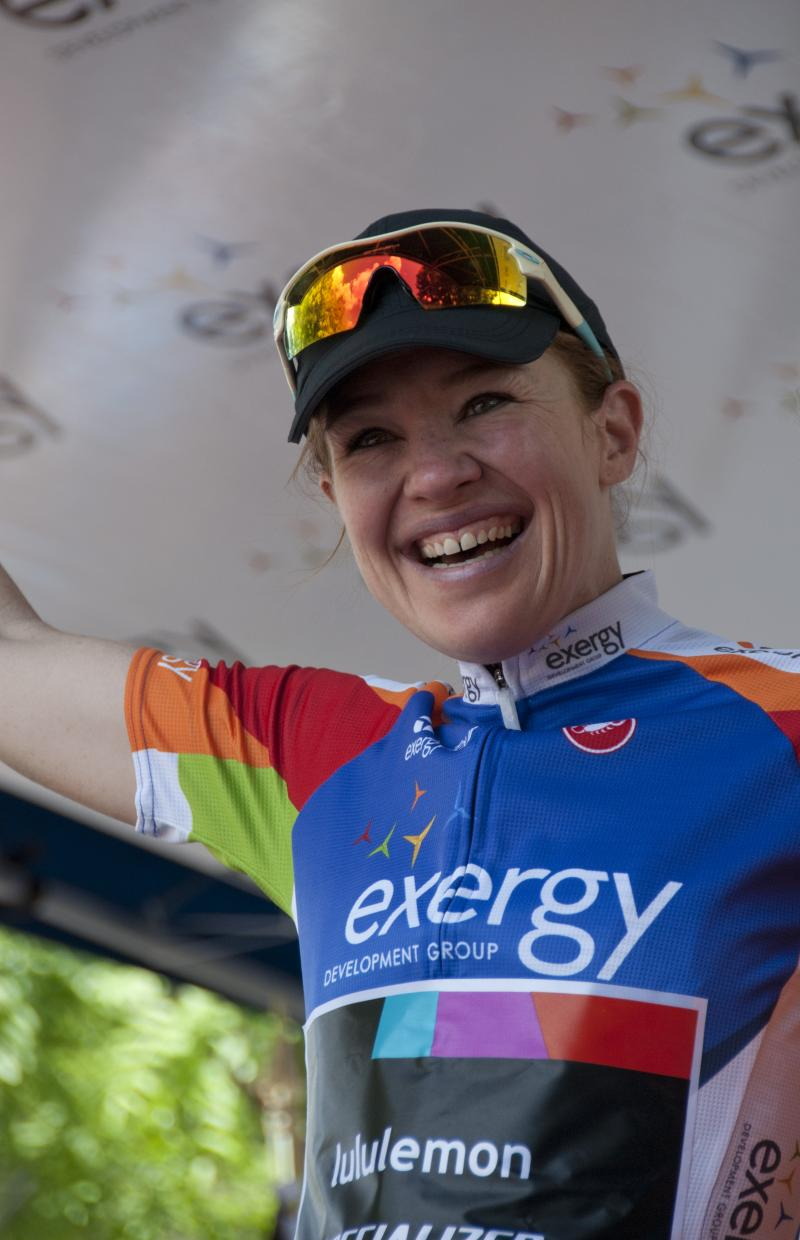 Canadian rider Clara Hughes raced years ago in the Women's Challenge in Idaho. Hughes was awarded the most aggressive rider's jersey after sticking a break away by herself during Monday's race.