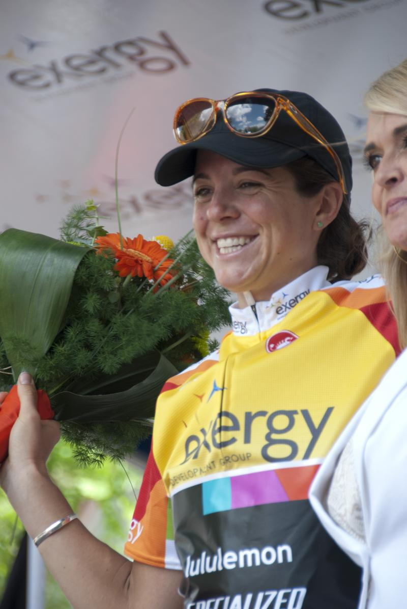 Evelyn Stevens wins the inaugural Exergy Tour.