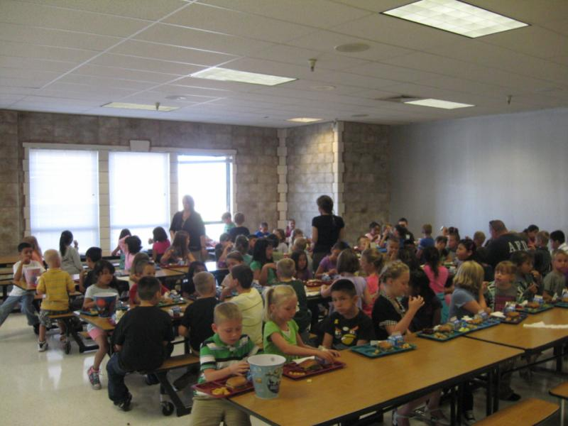 School lunch room in Caldwell