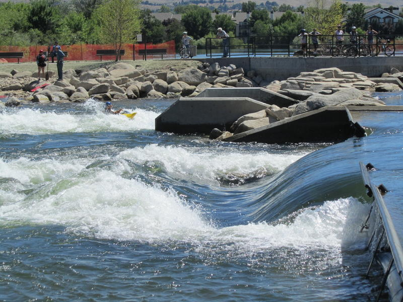 Whitewater Park Surf Raft Greenbelt