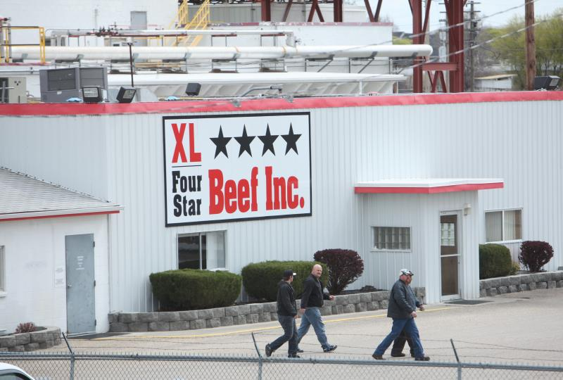 Employees leave the XL Four Star Beef plant in Nampa in 2011 after the company announced plans to shut the plant down and layoff 522 people. XL Four Star received $564,231 in training fund grants.