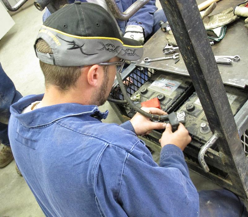 Meridian worker trains to become a mechanical technician.
