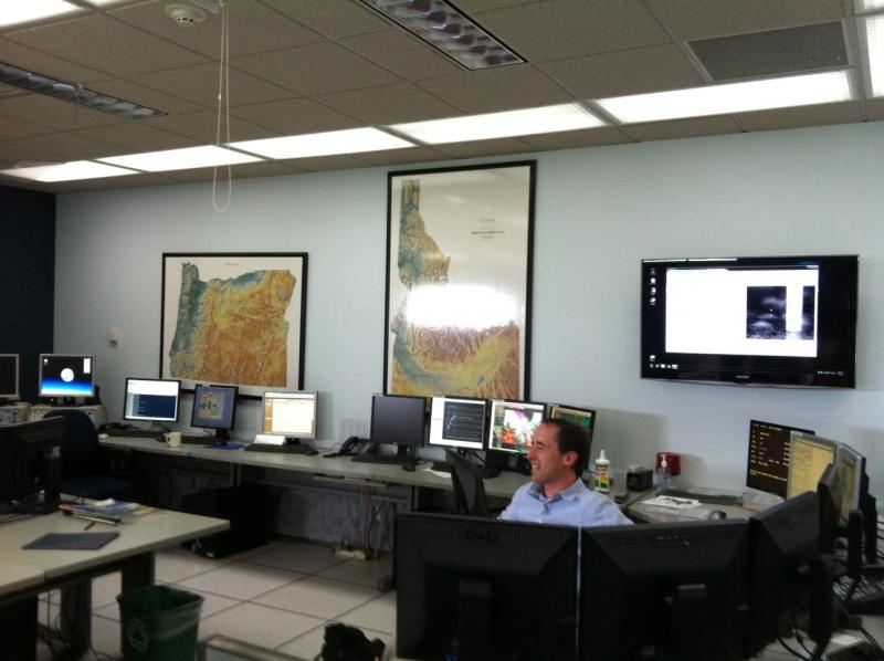 On big storm days the heart of the National Weather Service's Boise office is bustling.