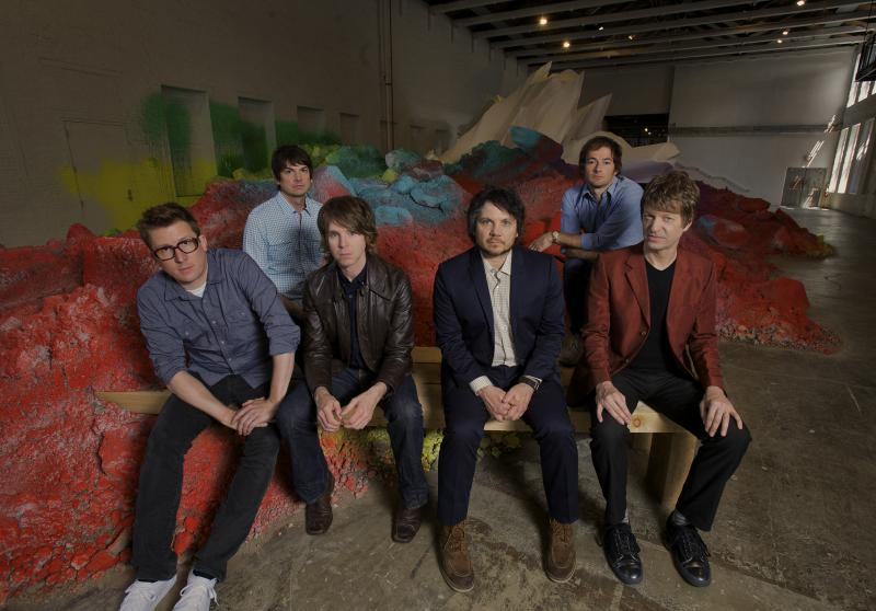 PICTURED LEFT TO RIGHT: MIKAEL JORGENSEN, , GLENN KOTCHE, PATRICK SANSONE, JEFF TWEEDY, JOHN STIRRATT, NELS CLINE