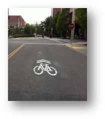 "A ""Sharrow,"" or Shared Lane Marking"