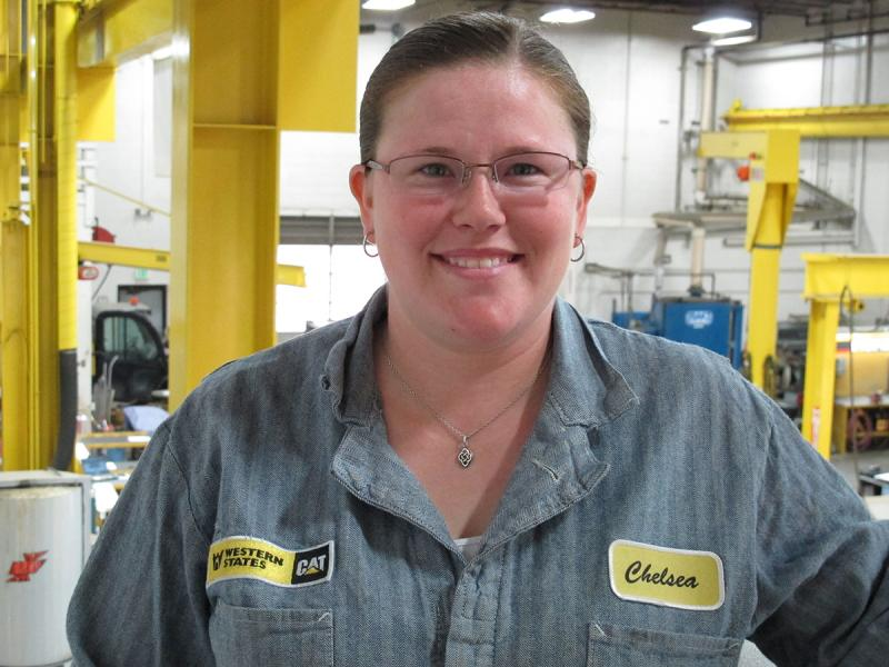 Chelsea Schulz started college to be a teacher, now she's preparing for her job as a mechanic tech.