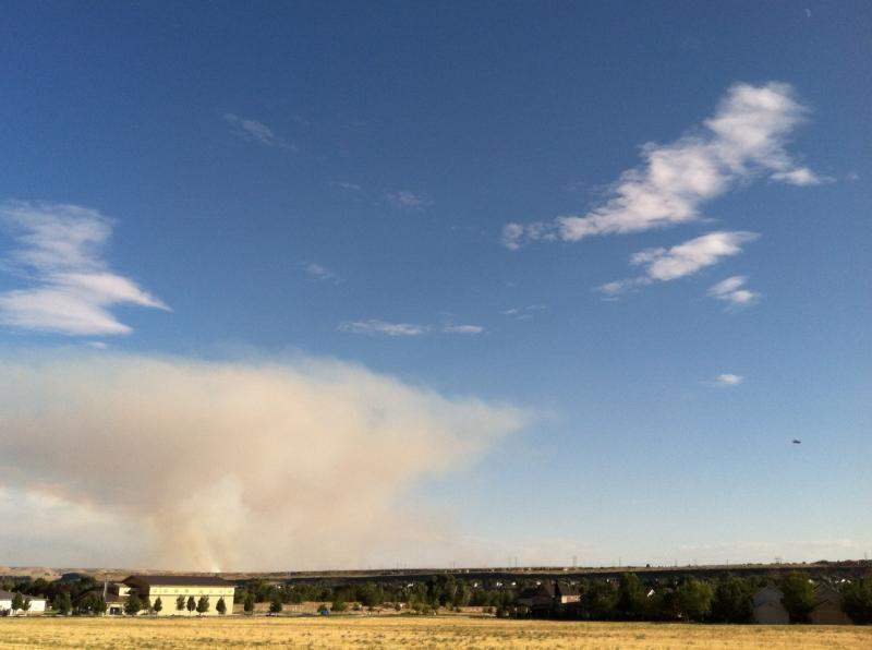 Air tankers and small aircraft were busy Tuesday evening fighting a grass fire east of Micron Technology.