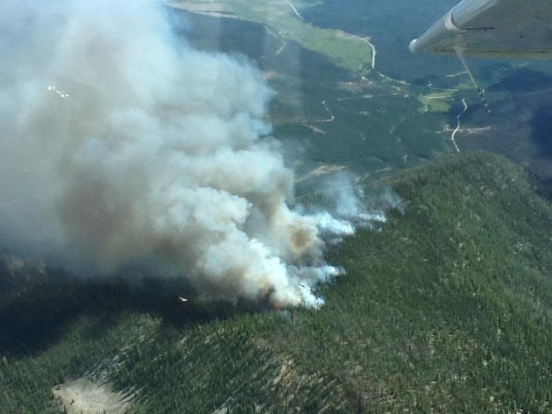 The Halstead Fire burned 60 acres about 15 miles north of Stanley, Idaho.  It has not been contained.