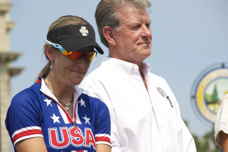 Kristin Armstrong won her second Olympic gold medal in the individual time trial in London. She plans to retire from professional cycling.