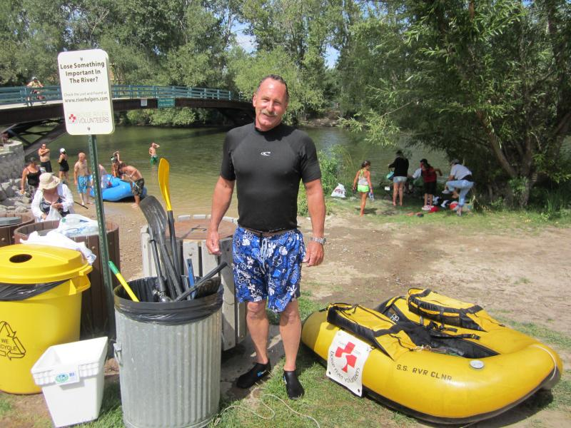Chris Nelson has swam the Boise River every Sunday of the floating season for 13 years, picking up trash and valuables people lost on the river.