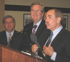 Jeb Bush (center) visited Idaho's Students Come First Tech Taskforce to talk about education reform.