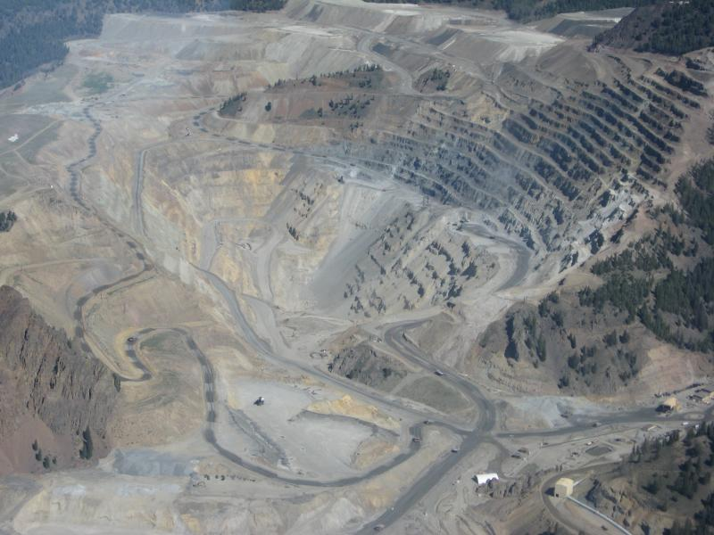 Bird's eye view of the Thompson Creek mine near Challis. The ultimate goal of the CuMo project is to create this type of open pit mine.