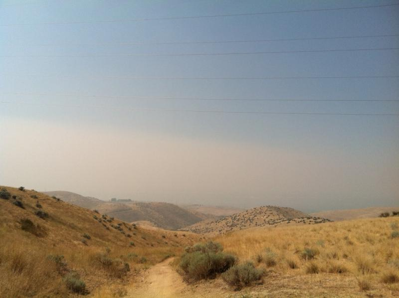 Smoke fills the Treasure Valley.