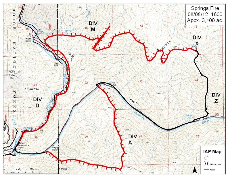 Springs Fire Map
