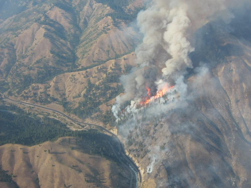 The Springs Fire at Banks is one of many fires pumping smoke into Idaho's atmosphere