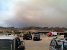 Smoke from the Halstead Fire